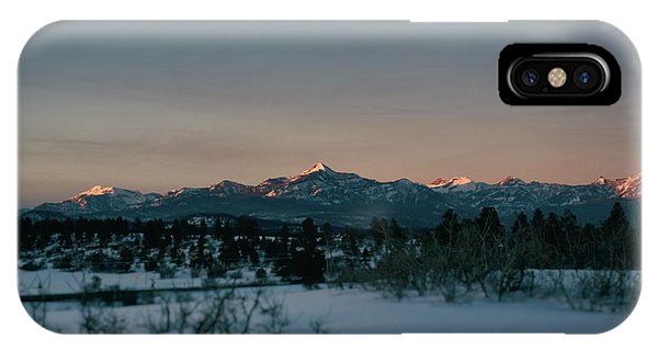 IPhone Case featuring the photograph Last Light On Pagosa Peak by Jason Coward