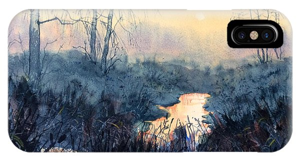 Last Light On Skipwith Marshes IPhone Case
