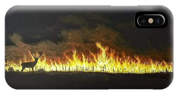 IPhone Case featuring the painting Last Look Back At Home by Kevin Daly