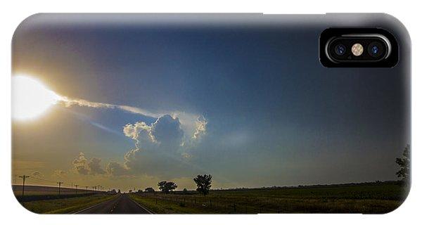 Nebraskasc iPhone Case - Last Nebraska Supercell Of The Summer 009 by NebraskaSC