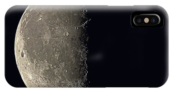 Half Moon iPhone Case - Last Quarter Moon by Eckhard Slawik