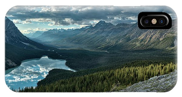 Last Rays Of Light Over Peyto Lake IPhone Case