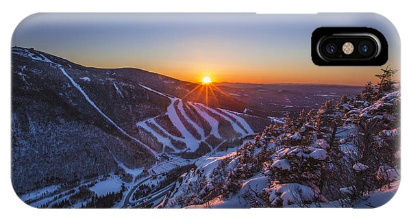 Last Winter Sunset Over Cannon Mountain IPhone Case