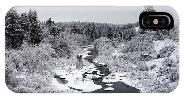 Centennial Bridge iPhone Case - Latah Creek Valley In Winter 2 by Daniel Hagerman
