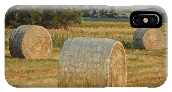 Late Afternoon Bales - Plein Air IPhone Case
