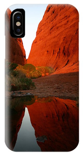 Late Afternoon Light And Reflections At Kata Tjuta In The Northern Territory IPhone Case