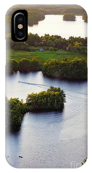 Late Afternoon On Lake Megunticook, Camden, Maine -43988 IPhone Case