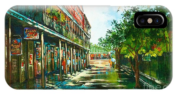 French Artist iPhone Case - Late Afternoon On The Square by Dianne Parks