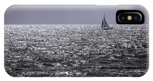 Sailboat Off The Coast At San Diego IPhone Case