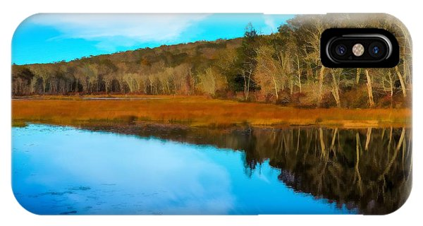 Late Fall At A Connecticut Marsh. IPhone Case
