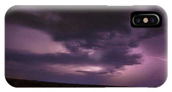 Nebraskasc iPhone Case - Late July Storm Chasing 028 by NebraskaSC