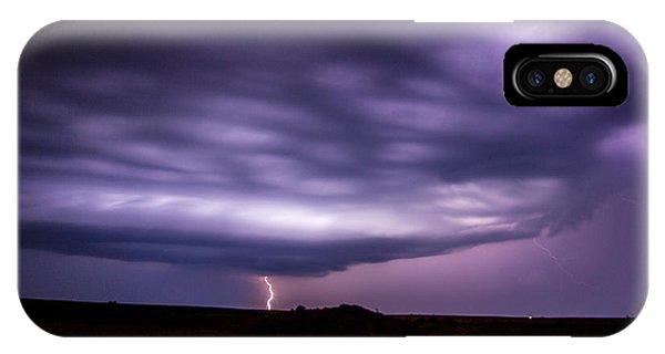 Nebraskasc iPhone Case - Late July Storm Chasing 033 by NebraskaSC