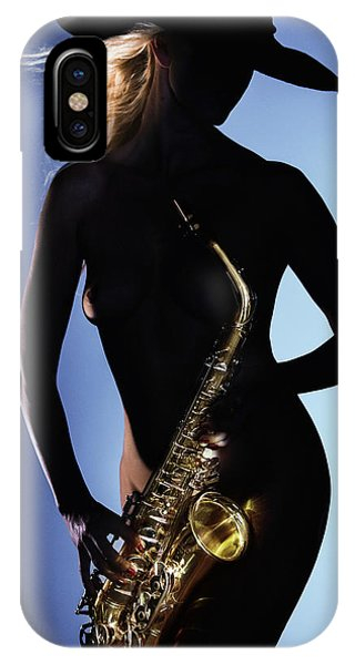 Late Night Sax IPhone Case