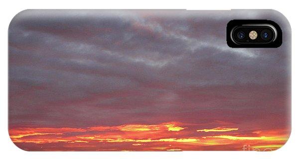 Late Prairie Sunrise IPhone Case