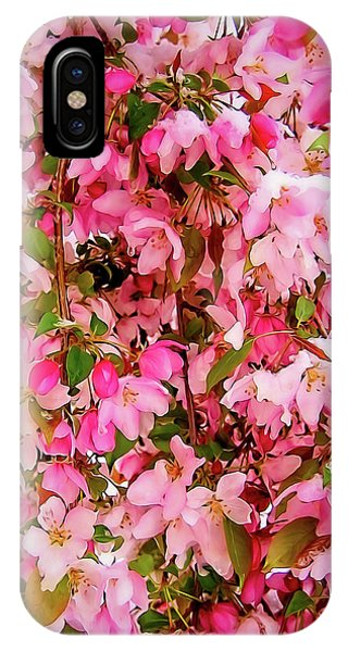 Late Snow Early Flowers IPhone Case