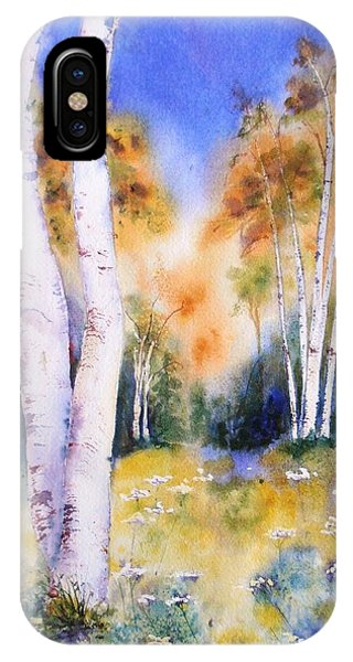Late Summer Birches IPhone Case