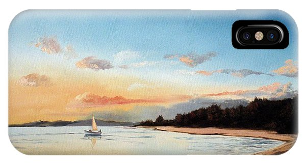 Late Sunset Along The Beach IPhone Case