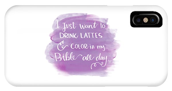 Lattes And Color IPhone Case