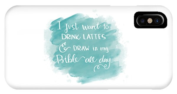 Lattes And Draw IPhone Case