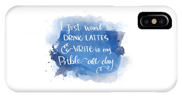 Lattes And Write IPhone Case