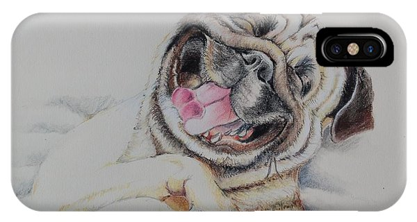 Laughing Pug IPhone Case
