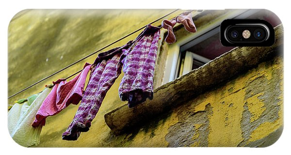 Laundry Hanging In Rovinj, Croatia IPhone Case