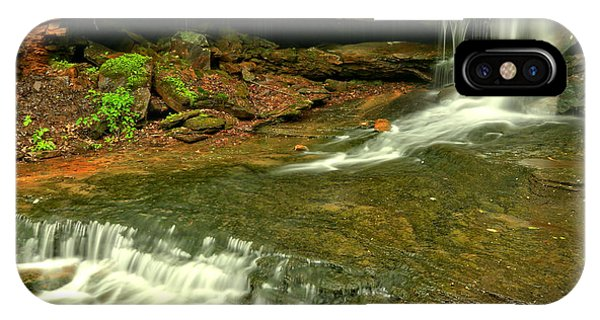 Somerset County iPhone Case - Laurel Highlands Cave Falls by Adam Jewell