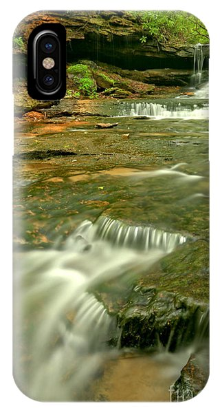 Somerset County iPhone Case - Laurel Highlands Waterfall Portrait by Adam Jewell