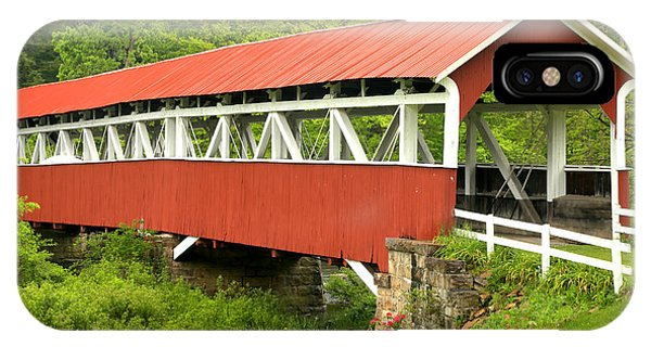 Somerset County iPhone Case - Laurel Hill Creek Covered Bridge by Adam Jewell