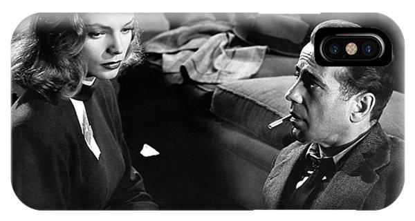 Lauren Bacall Humphrey Bogart Film Noir Classic The Big Sleep 1 1945-2015 IPhone Case