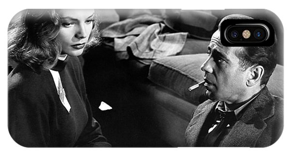 Lauren Bacall Humphrey Bogart Film Noir Classic The Big Sleep 1 1945-2015 IPhone Case