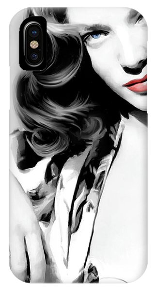Lauren Bacall Large Size Portrait 2 IPhone Case