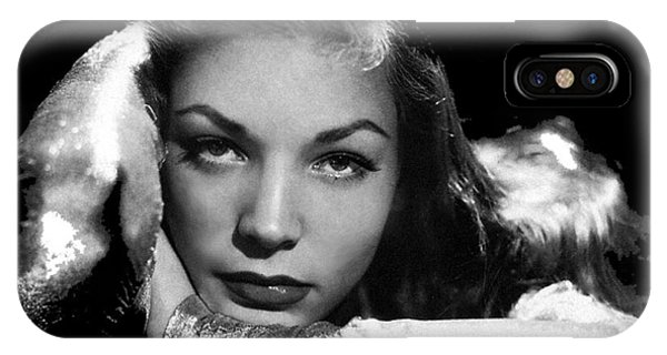 Lauren Bacall Publicity Photo Circa 1945-2015 IPhone Case