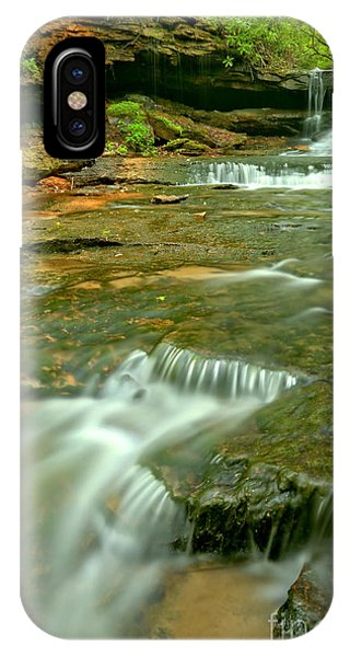 Somerset County iPhone Case - Laurl Highlands Waterfall Gorge by Adam Jewell