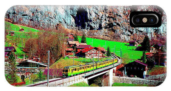Lauterbrunnen Electric Train IPhone Case