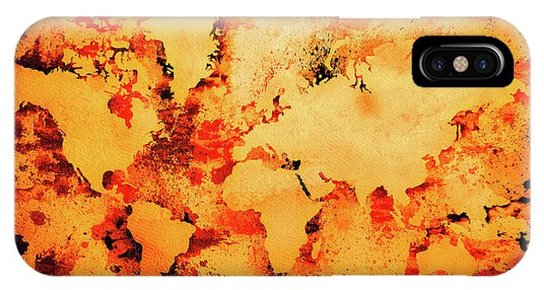 New Trend iPhone Case - Lava World Map by Zaira Dzhaubaeva