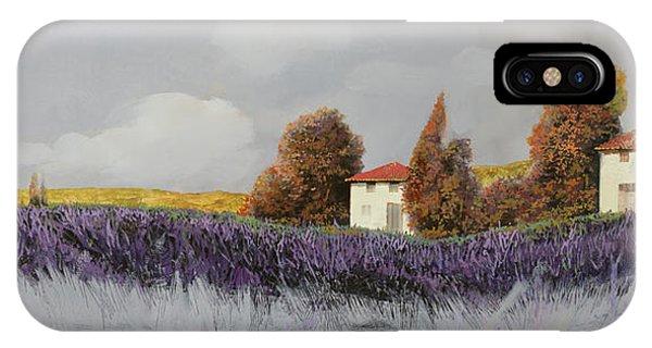Lavender iPhone Case - Lavanda Orizzontale by Guido Borelli