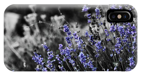 Lavender B And W IPhone Case