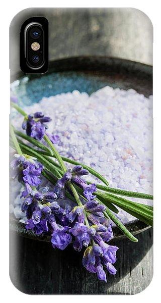 iPhone Case - Lavender Bath Salts In Dish by Elena Elisseeva