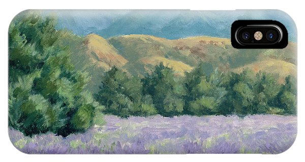 Lavender, Blue And Gold IPhone Case