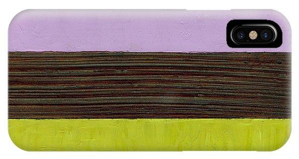 Lavender Brown Olive IPhone Case