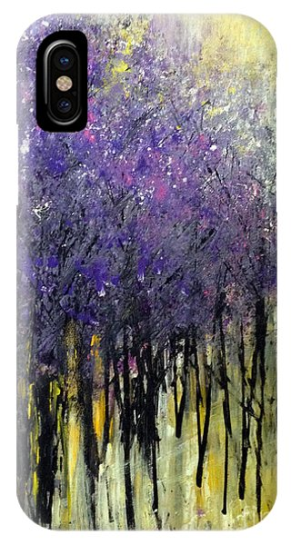 IPhone Case featuring the painting Lavender Dreams by Priti Lathia
