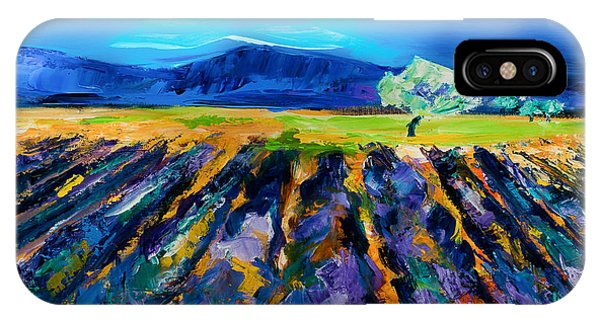 Fauvism iPhone Case - Lavender Field by Elise Palmigiani
