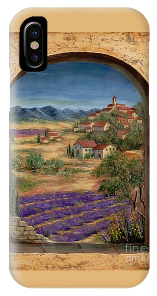Lavender iPhone Case - Lavender Fields And Village Of Provence by Marilyn Dunlap