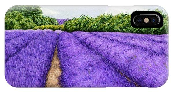 Violet iPhone Case - Lavender Fields by Sarah Batalka