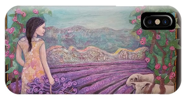 Lavender Harvest With Friends IPhone Case