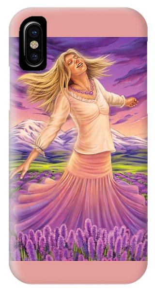 Lavender - Heal Through Joy IPhone Case