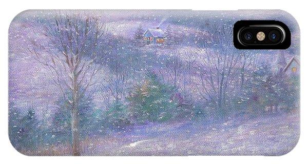 Lavender Impressionist Snowscape IPhone Case