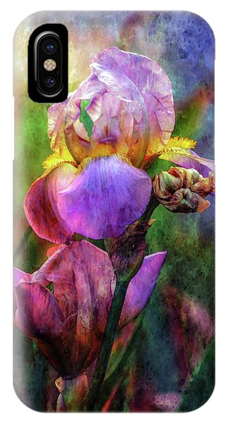 Lavender Iris Impression 0056 Idp_2 IPhone Case