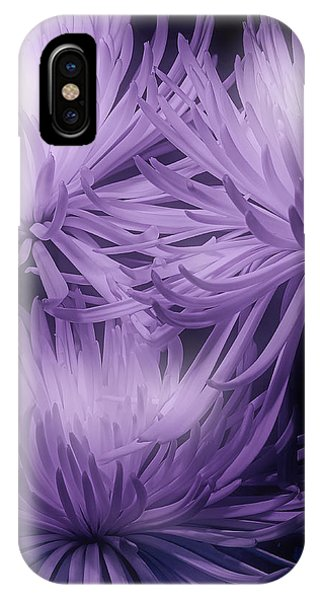 Blooming iPhone Case - Lavender Mums by Tom Mc Nemar